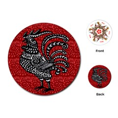 Year of the Rooster Playing Cards (Round)