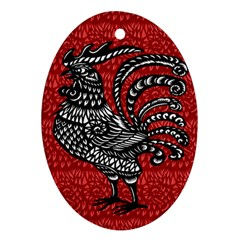 Year of the Rooster Oval Ornament (Two Sides)