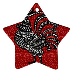 Year of the Rooster Star Ornament (Two Sides)