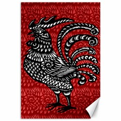 Year of the Rooster Canvas 12  x 18