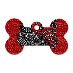 Year of the Rooster Dog Tag Bone (One Side)