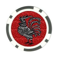 Year of the Rooster Poker Chip Card Guard