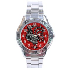 Year of the Rooster Stainless Steel Analogue Watch