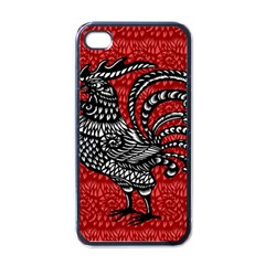 Year of the Rooster Apple iPhone 4 Case (Black)