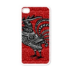 Year of the Rooster Apple iPhone 4 Case (White)