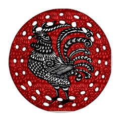 Year of the Rooster Round Filigree Ornament (Two Sides)