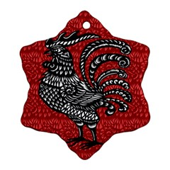 Year of the Rooster Snowflake Ornament (Two Sides)