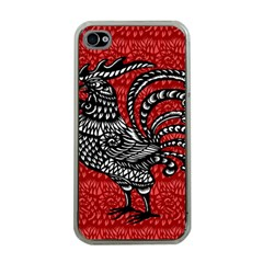 Year of the Rooster Apple iPhone 4 Case (Clear)
