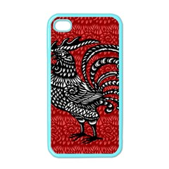 Year of the Rooster Apple iPhone 4 Case (Color)