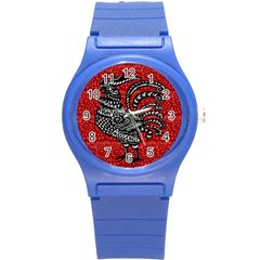 Year of the Rooster Round Plastic Sport Watch (S)