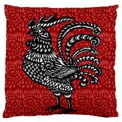 Year of the Rooster Large Cushion Case (Two Sides)