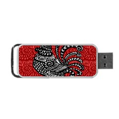 Year of the Rooster Portable USB Flash (One Side)