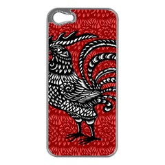 Year of the Rooster Apple iPhone 5 Case (Silver)