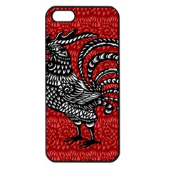 Year of the Rooster Apple iPhone 5 Seamless Case (Black)