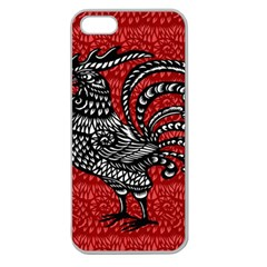 Year of the Rooster Apple Seamless iPhone 5 Case (Clear)