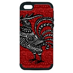 Year of the Rooster Apple iPhone 5 Hardshell Case (PC+Silicone)