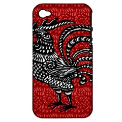 Year of the Rooster Apple iPhone 4/4S Hardshell Case (PC+Silicone)