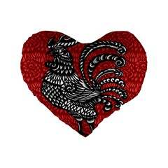 Year of the Rooster Standard 16  Premium Heart Shape Cushions