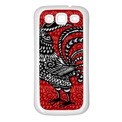 Year of the Rooster Samsung Galaxy S3 Back Case (White)