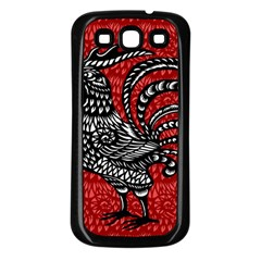 Year of the Rooster Samsung Galaxy S3 Back Case (Black)