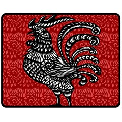 Year of the Rooster Double Sided Fleece Blanket (Medium)