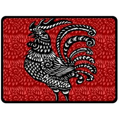 Year of the Rooster Double Sided Fleece Blanket (Large)