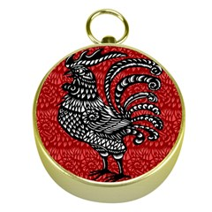 Year of the Rooster Gold Compasses