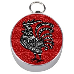 Year of the Rooster Silver Compasses