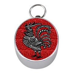 Year of the Rooster Mini Silver Compasses