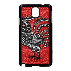 Year of the Rooster Samsung Galaxy Note 3 Neo Hardshell Case (Black)