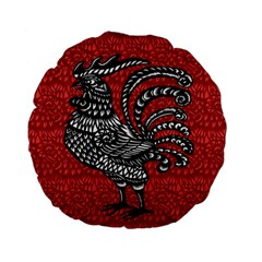 Year of the Rooster Standard 15  Premium Flano Round Cushions