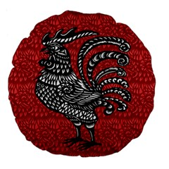 Year of the Rooster Large 18  Premium Flano Round Cushions