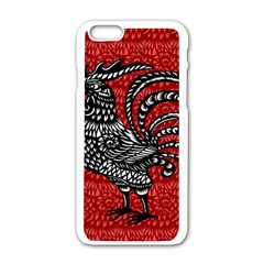 Year of the Rooster Apple iPhone 6/6S White Enamel Case