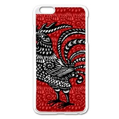 Year of the Rooster Apple iPhone 6 Plus/6S Plus Enamel White Case