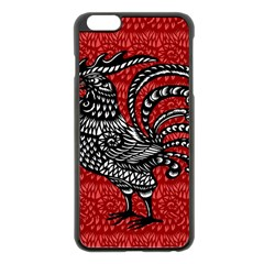 Year of the Rooster Apple iPhone 6 Plus/6S Plus Black Enamel Case