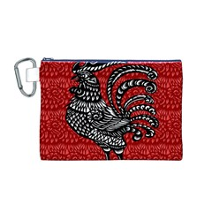 Year of the Rooster Canvas Cosmetic Bag (M)