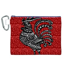 Year of the Rooster Canvas Cosmetic Bag (XL)