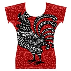 Year of the Rooster Women s Cap Sleeve Top