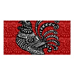 Year of the Rooster Satin Shawl