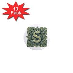 Money Symbol Ornament 1  Mini Magnet (10 pack)