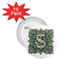 Money Symbol Ornament 1.75  Buttons (10 pack)
