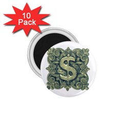 Money Symbol Ornament 1.75  Magnets (10 pack)