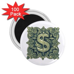 Money Symbol Ornament 2.25  Magnets (100 pack)