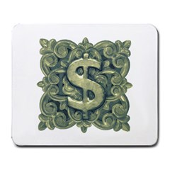 Money Symbol Ornament Large Mousepads