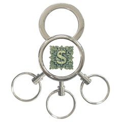 Money Symbol Ornament 3-Ring Key Chains