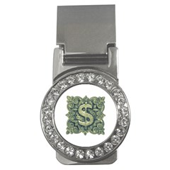 Money Symbol Ornament Money Clips (CZ)