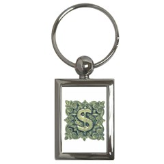 Money Symbol Ornament Key Chains (Rectangle)