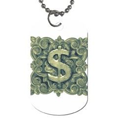 Money Symbol Ornament Dog Tag (One Side)