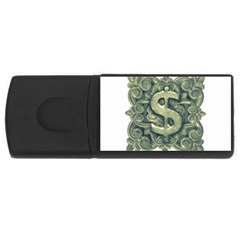 Money Symbol Ornament USB Flash Drive Rectangular (2 GB)
