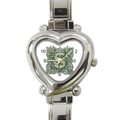 Money Symbol Ornament Heart Italian Charm Watch